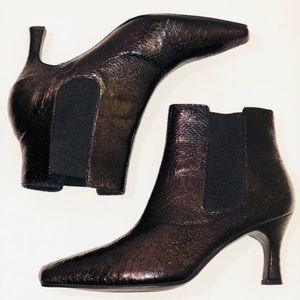 Kim Rogers Ankle Boots Olive Green Black Size 8.5
